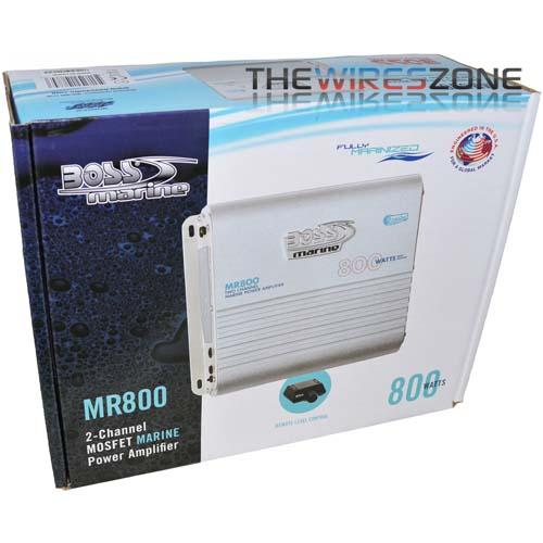 Boss MR800 2-Channel AB Class 800 Watt High Power Marine Amplifier