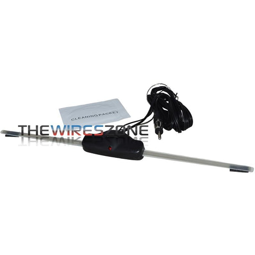 The Wires Zone AI-26 Universal Amplified AM/FM Window Glass Antenna