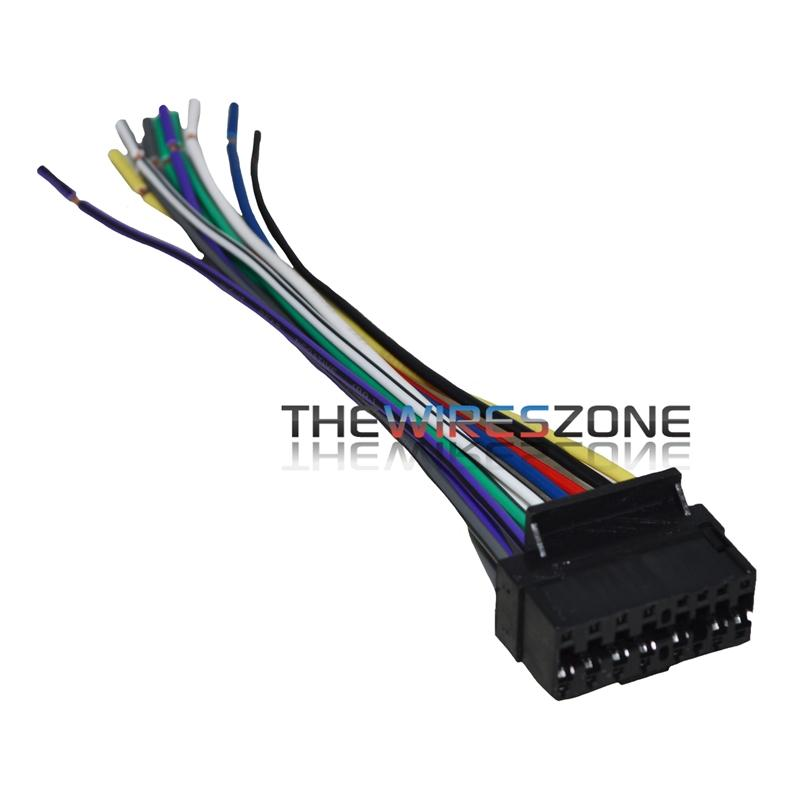 jvc kd g110 wiring diagram 16 pin wire harness for select jvc car stereos the wires zone  16 pin wire harness for select jvc car