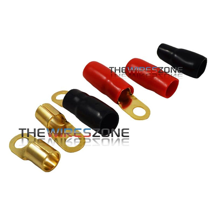 "Raptor R038RT Mid Series Gold 1/0 Gauge 3/8"" Ring Terminal (20/pack)"