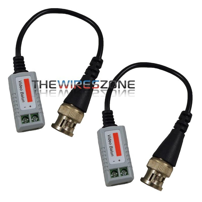 1-Channel Passive Video Balun Transceiver for UTP CAT5 Cables (pair)