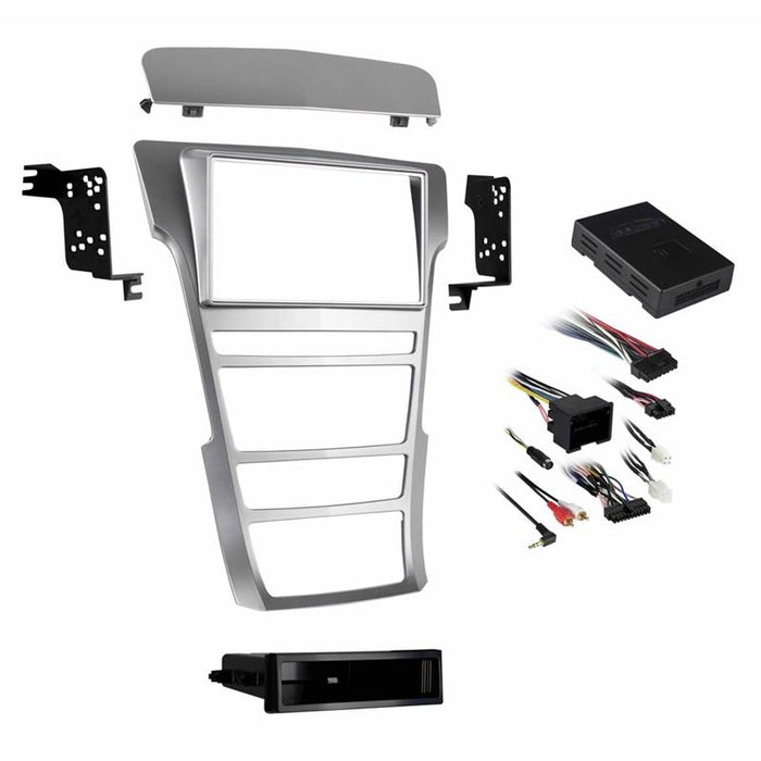 Metra 99-3018S Silver 1 or 2 DIN Dash Kit for 2008-2015 Cadillac CTS