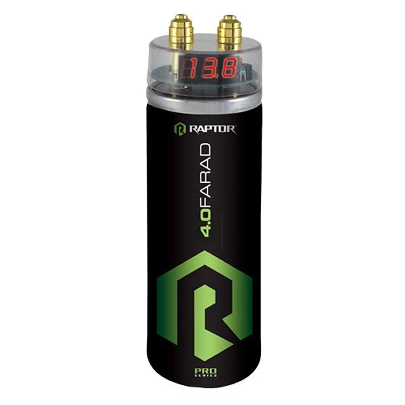 Raptor R5CAP Pro Series 4.0 Farad Digital Voltage Monitor Capacitor