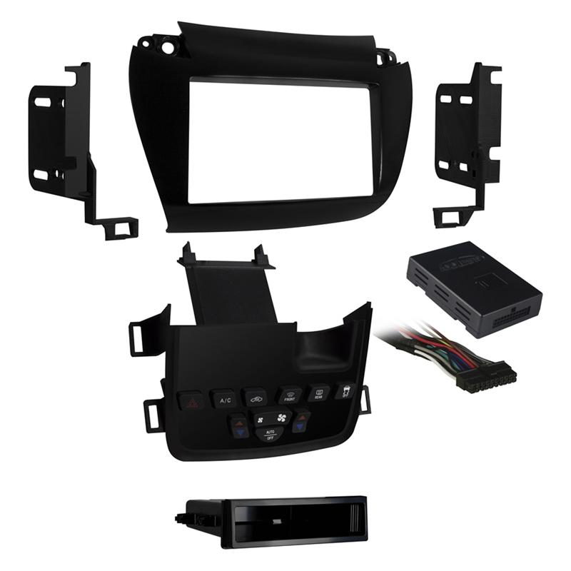Metra 99-6520B Black 1 or 2 DIN Dash Kit for Select Dodge Journey