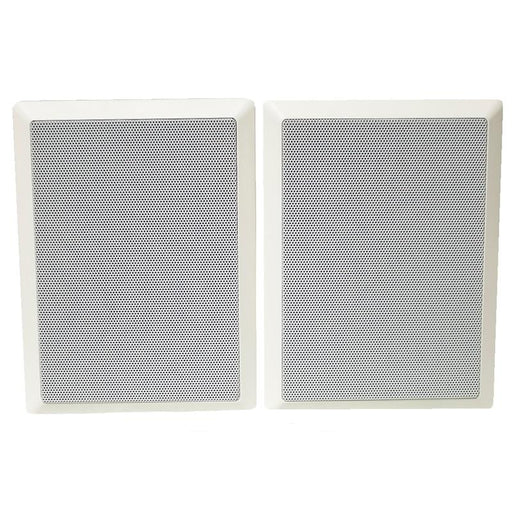 "White 2-Way 6"" 100 Watts 6 Ohms In-Wall Home Theater Speaker (pair)"