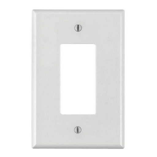 White Plastic 1-Gang Decora Style Wall Face Plate (1/pack)