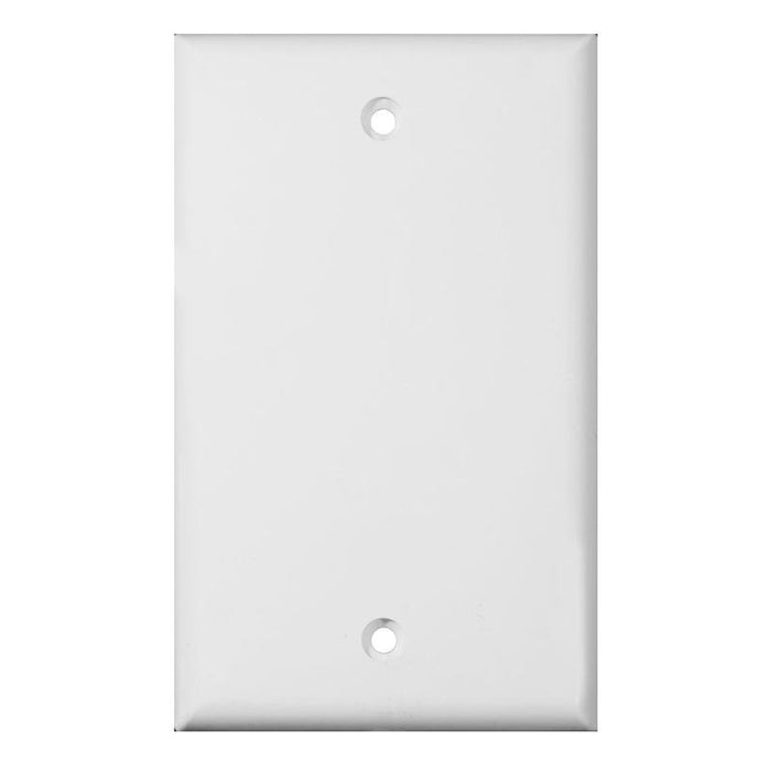 1-Gang Plastic White Electric Box Blank Face Wall Plate Cover