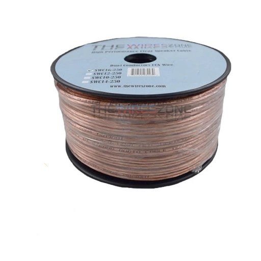 Clear 250 Feet 16 Gauge Speaker Wire for Car or Home Audio