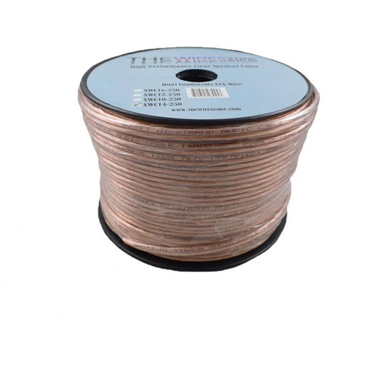 14 Gauge 2 Conductor 14/2 Clear 250ft Speaker Wire for Car/Home Audio