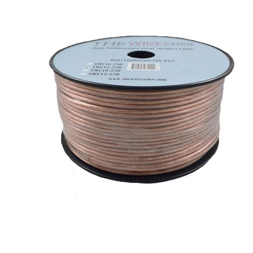 12 Gauge 2 Conductor 12/2 Clear 250ft Speaker Wire for Car/Home Audio