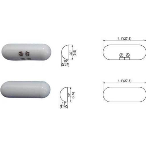 White Magnetic Pill Door Window Security Alarm Contact Terminal