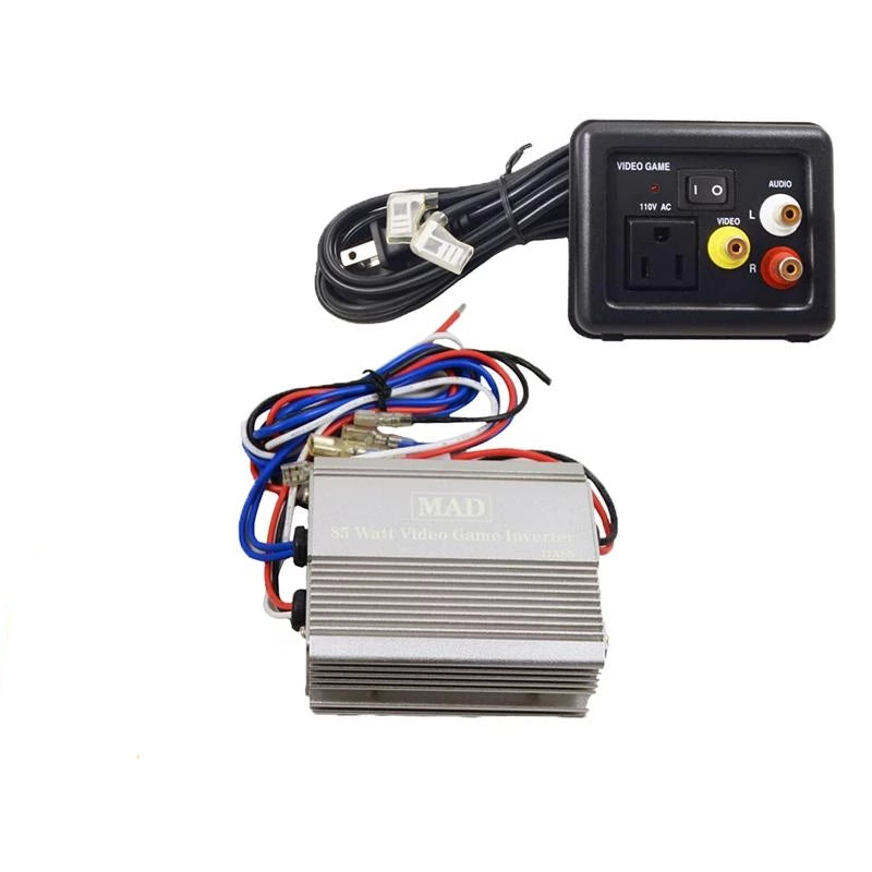 Power Inverter 12 Volt DC to 110V AC 85 Watts with Video Game Port