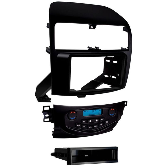 Metra 99-7809B Black Single/Double DIN Dash Kit for 2004-08 Acura TSX