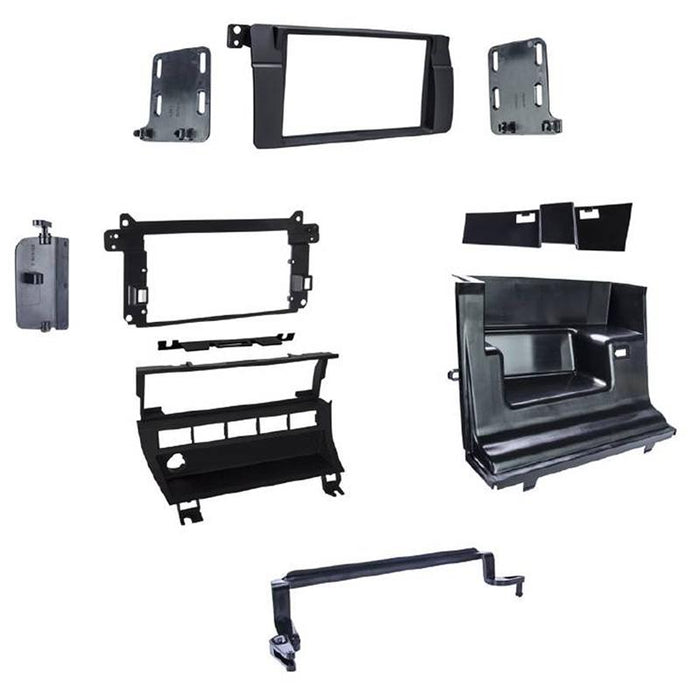 Metra 95-9312B Matte Black Double DIN Dash Kit for Select 1999-06 BMW