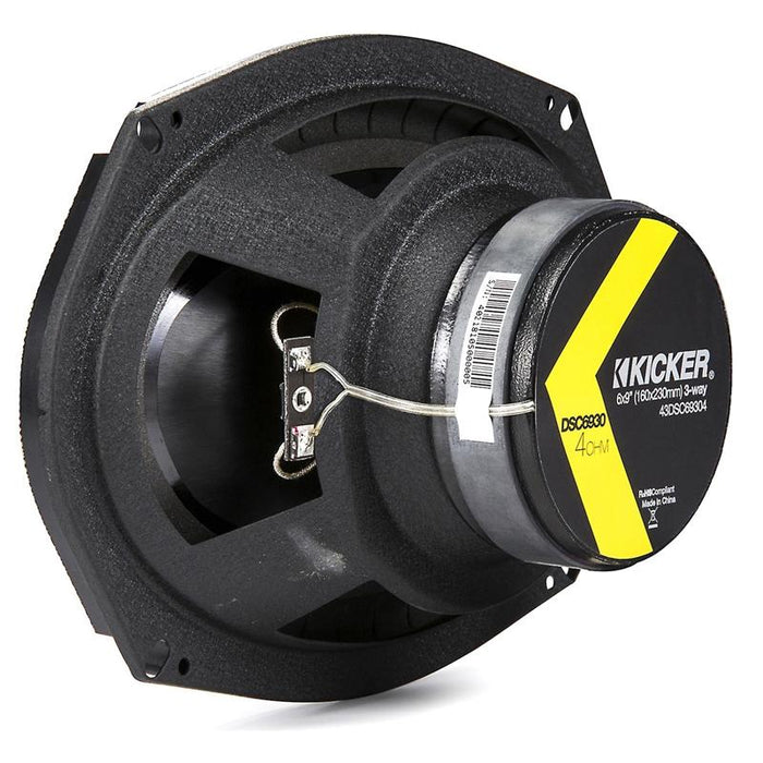 "Kicker 43DSC69304 6"" X 9"" 360 Watts 3 Way Coaxial Speakers"