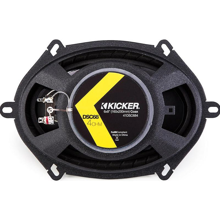 "Kicker 43DSC6804 6"" X 8"" 200 Watts 2 Way Coaxial Speakers"