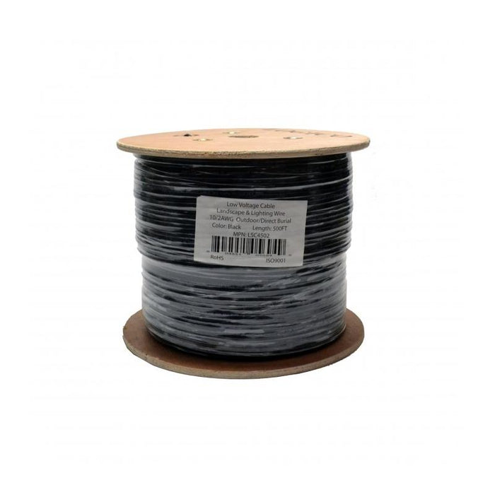 10 Gauge 2 Conductor Outdoor Direct Burial Landscape Cable 500ft 10/2
