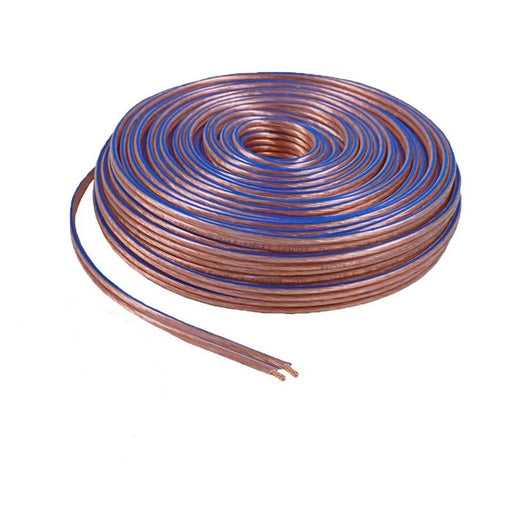 14 Gauge 2 Conductor 14/2 Clear 100ft Speaker Wire for Car/Home Audio
