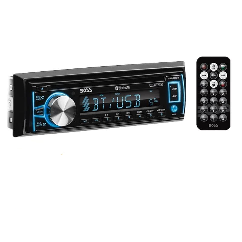 Boss 750BRGB Single DIN Bluetooth CD/Digital Media Car Stereo Receiver