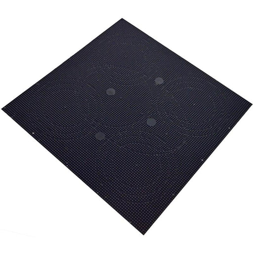 "Black Custom 12"" x 12"" x 1/8"" ABS Plastic Sheet for Speakers Stereos"