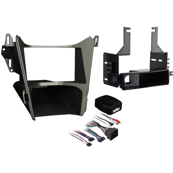 Metra 99-3307G Gray Single/Double DIN Dash Kit for Select Chevy/GMC