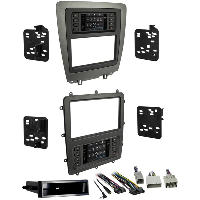 Metra 99-5839CH Charcoal 1 or 2 DIN Dash Kit for 2010-14 Ford Mustang