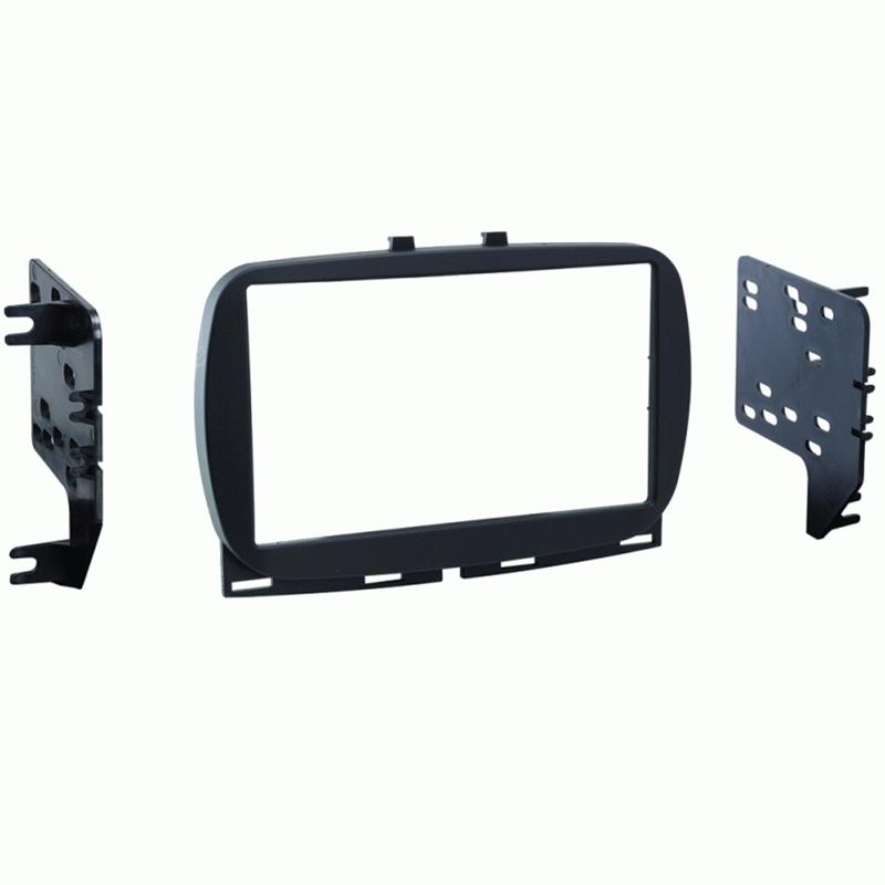 Metra 95-6544B Black Double DIN Dash Kit for Select 2016-up Fiat 500