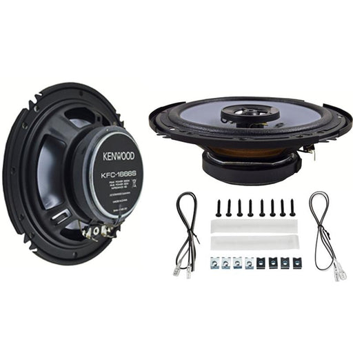 "Kenwood KFC-1666S 6.5"" 2Way 300W (pair)Speakers w/Sound Field Enhancer"