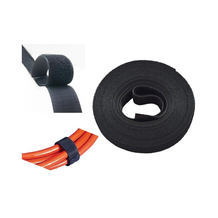 Hook and Loop 15 feet(L) x 3/4 inch(W) Multi-Purpose Black Velcro Tape