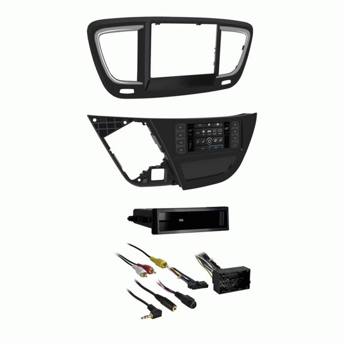 Metra 99-6543HG 1-2DIN Turbo Touch Dash Kit Chrysler Pacifica 2017-up