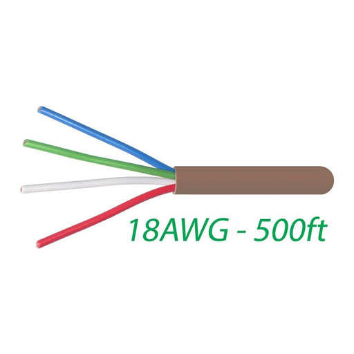 18-4 Thermostat Wire 18-Gauge Copper CMR Heating AC HVAC Cable 500FT