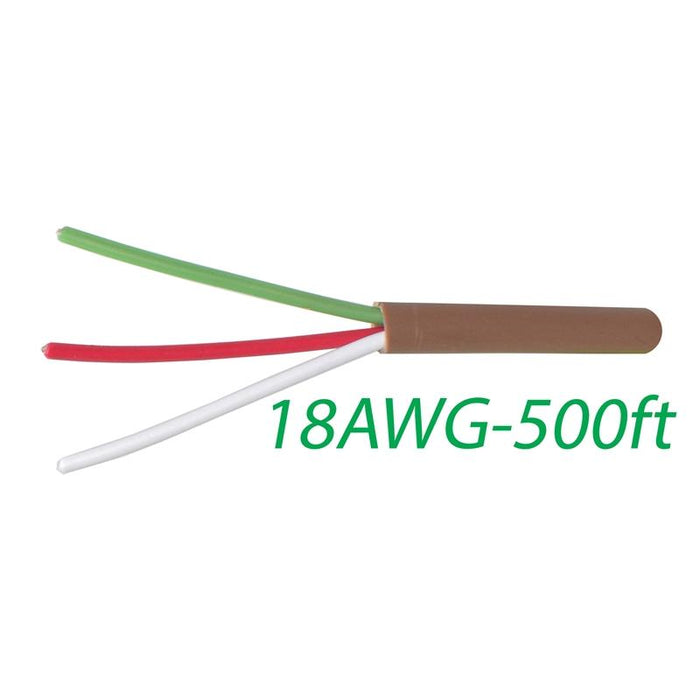 18-3 Thermostat Wire 18-Gauge Copper CMR Heating AC HVAC Cable 500FT