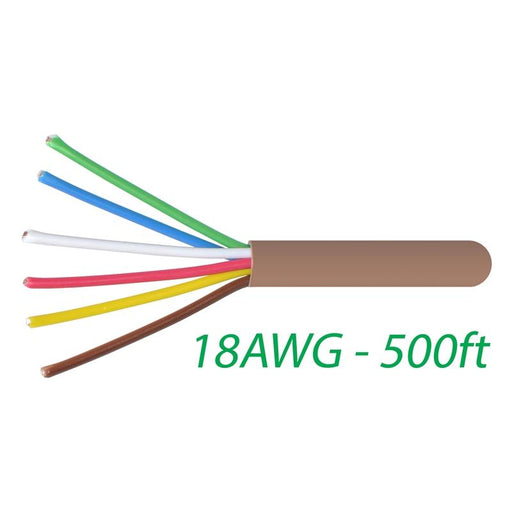 18-6 Thermostat Wire 18-Gauge Copper CMR Heating AC HVAC Cable 500FT