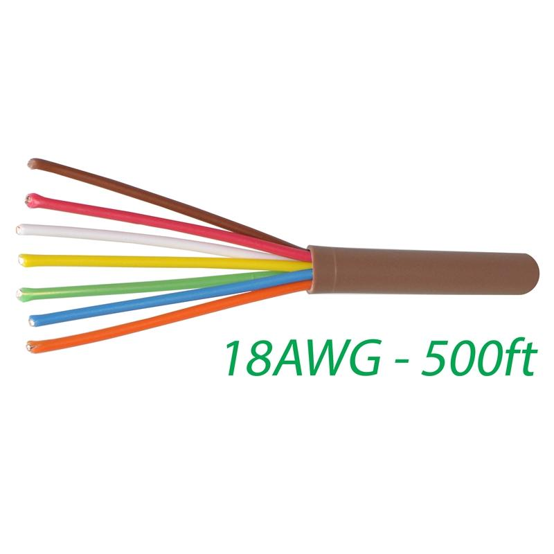 18-7 Thermostat Wire 18-Gauge Copper CMR Heating AC HVAC Cable 500FT
