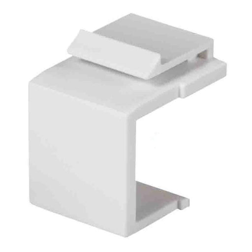 White Snap-In Keystone for Blank Insert Face Wall Plate