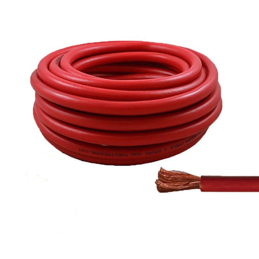4 Gauge 25 Feet High Performance Amplifier Power Cable (Red)
