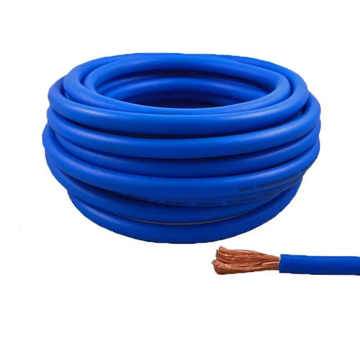 4 Gauge 25 Feet High Performance Amplifier Power/Ground Cable (Blue)