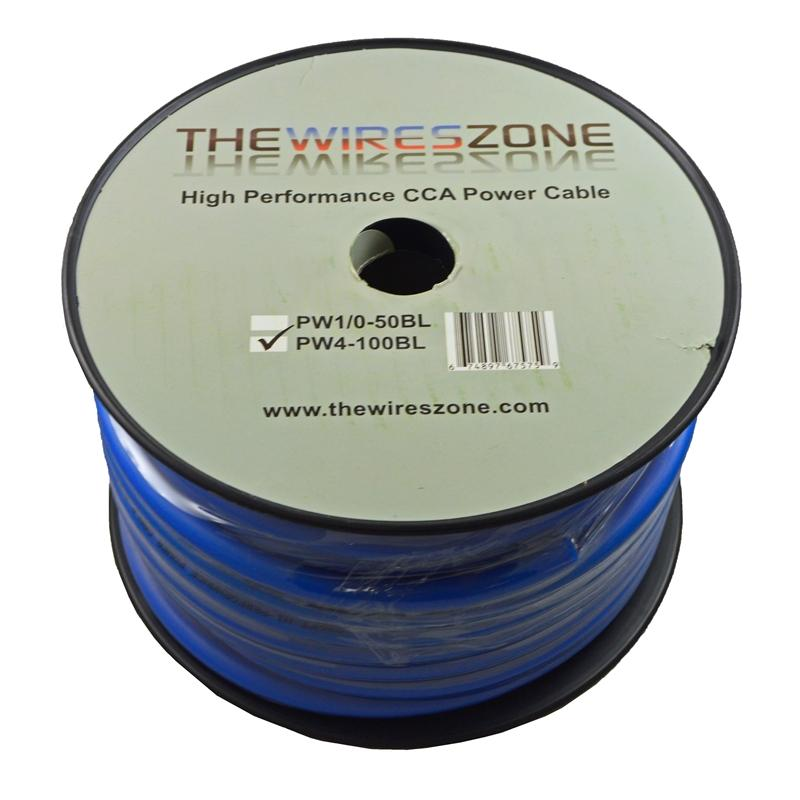 4 Gauge 100 Feet High Performance Flexi Amp Power//Ground Cable 4 AWG Wire Blue
