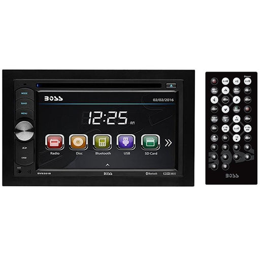 "Boss Double Din 6.2"" Touchscreen Bluetooth DVD CD USB SD MP3 WMA w/ Remote"