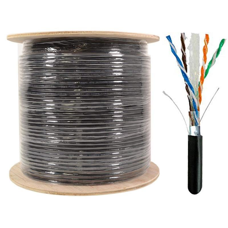 Cat6 Shielded 1000FT Ethernet Direct Burial Cable 23AWG Pure Copper