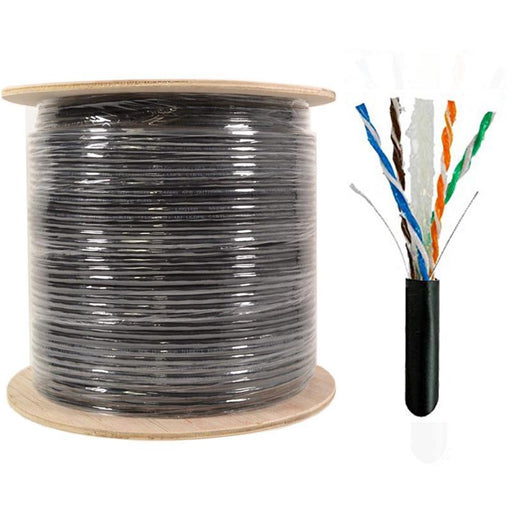 Cat6 1000FT UTP Ethernet Cable Direct Burial w/ Gel 23AWG Bare Copper