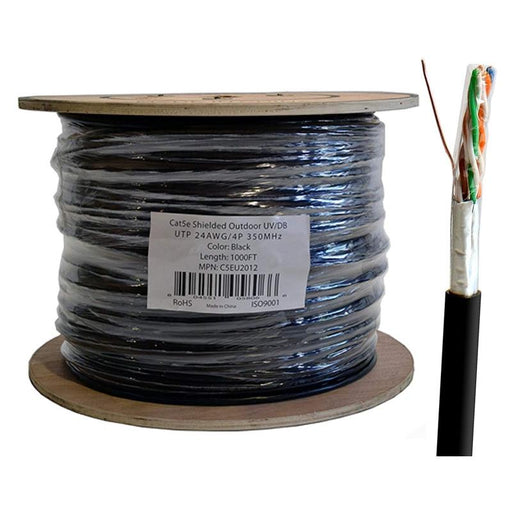 Cat5e Shielded Ethernet Outdoor FTP Direct Burial 1000FT 24AWG Cable