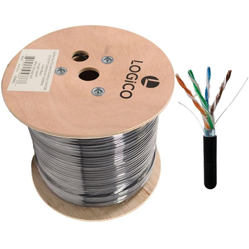 Cat5e Shielded 1000FT Ethernet Direct Burial Cable 24AWG Pure Copper
