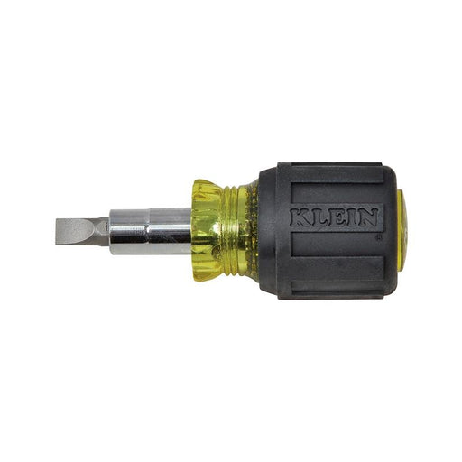 Klein Tools 32561 Stubby Screwdriver Nut Driver 6-in-1 Multi-Bit