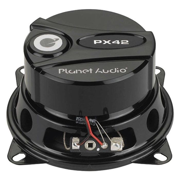 Planet Audio PX42 4 inch 2-Way Axis Series Speakers Poly Injection Cone 120W Pair