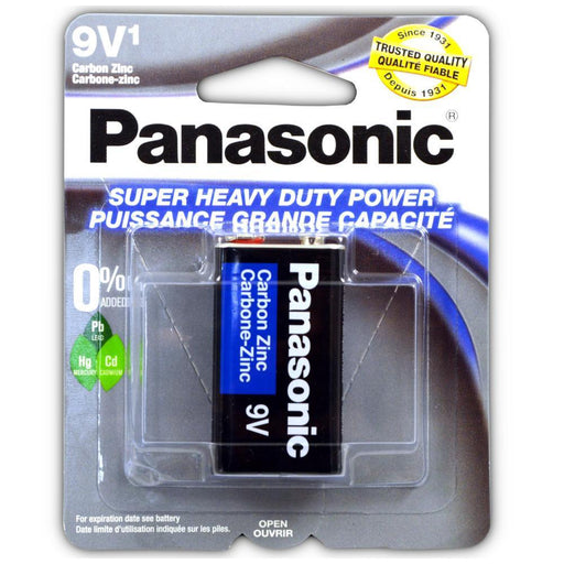 1 Pack Size 9V Panasonic Batteries Super Heavy Duty Power Zinc Carbon 9v Battery (4343645143104)
