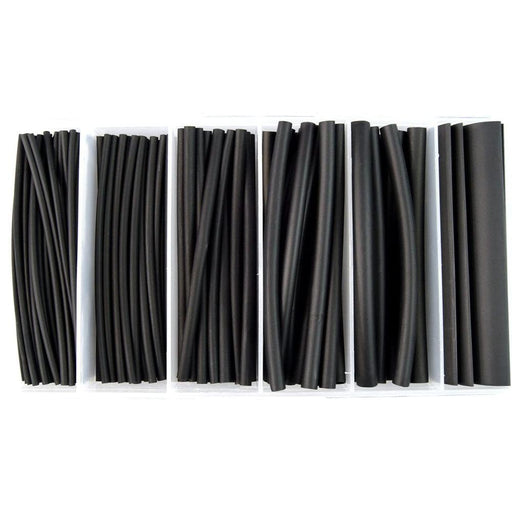 The Install Bay IBHST160B Heat Shrink Tubing Kit 160 Pc 4in 2:1 Assorted Black