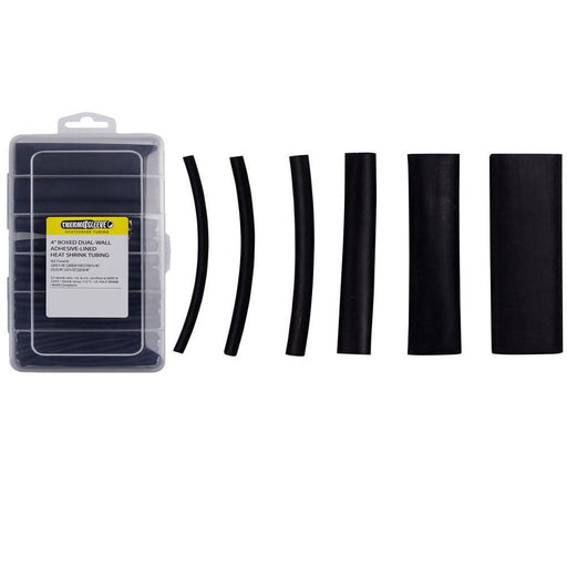 IBHST62AB 62 Pc Dual Wall Heat Shrink Kit - 4in Assorted 3:1 Black