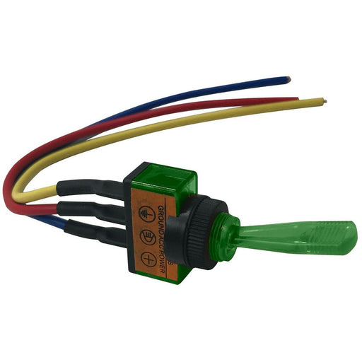 The Install Bay IBITSG Universal Pre Wired Toggle Green Switch Package of 5