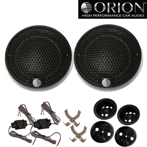 "Orion XTR1.00TW 1"" Silk Dome Tweeters w/ Surface & Flush Mount Hardware 300W Max"